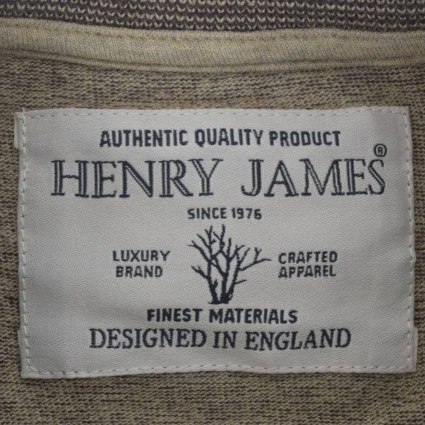 Men's Henry James long sleeve Melange Henley - Chocolate - klashcollection - 6