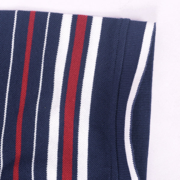 Men's Henry James Navy Striped Sleeve Polo Shirt - klashcollection - 7