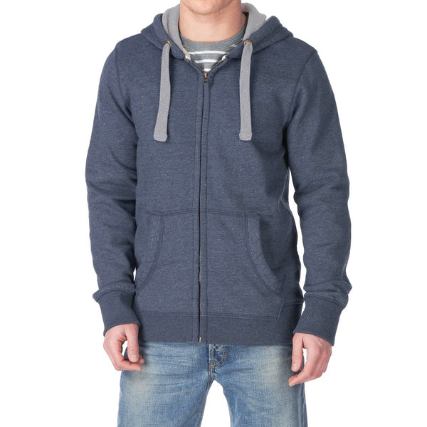 Men's Henry James Zulu Zipper Hoodie - Jeans Marl - klashcollection - 1