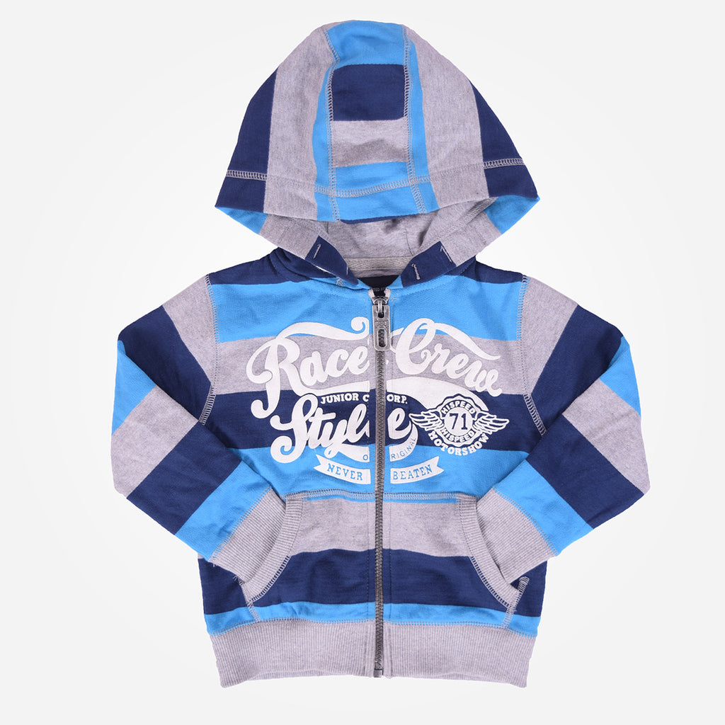 Kids Oliver Duke Race Crew Graphic Zipper Hoodie - klashcollection - 1