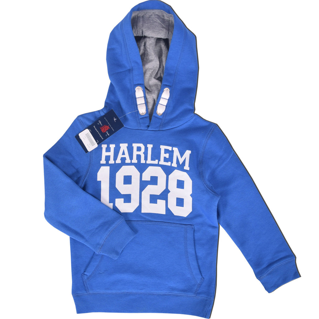 "Kids Oliver Duke ""1928"" Printed Pull Over Hoodie - Royal Blue - klashcollection - 1"