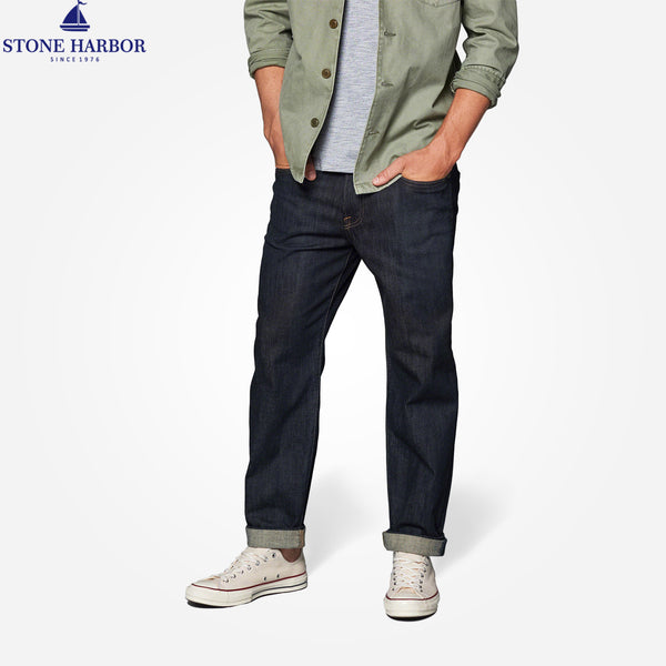 Copy of Men's Stone Harbor Rinse Wash Heavy Weight Straight Fit Stretch Denim - klashcollection - 1