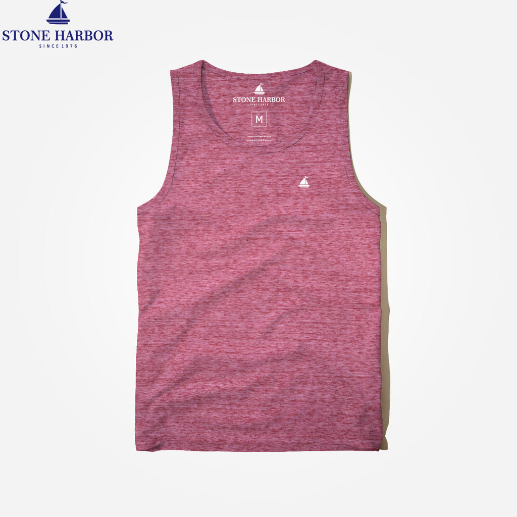 "Men's ""Stone Harbor"" Textured Blend  Signature Gym Vest - klashcollection - 1"