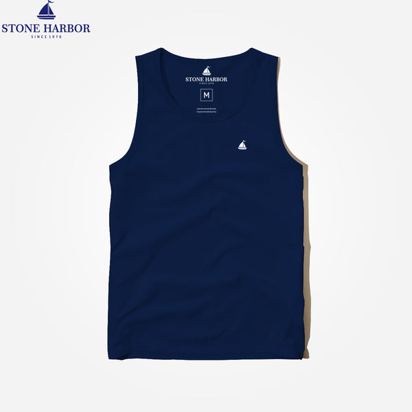 "Men's ""Stone Harbor"" Super Soft Solid Signature Gym Vest - klashcollection - 1"
