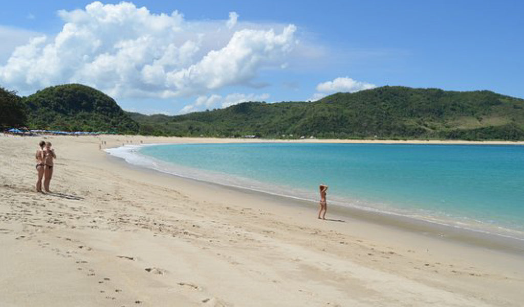 Mawun Beach on Lombok. Best Beaches to visit on your holiday to Bali