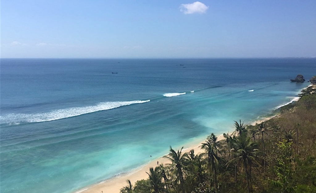 Thomas Beach in Bali's South. Beautifully secluded Palm Tree Lined Golden Sand