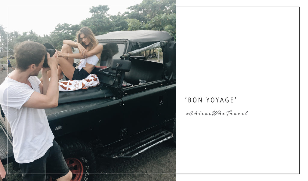 Photoshoot for our Bon Voyage Jewellery collection