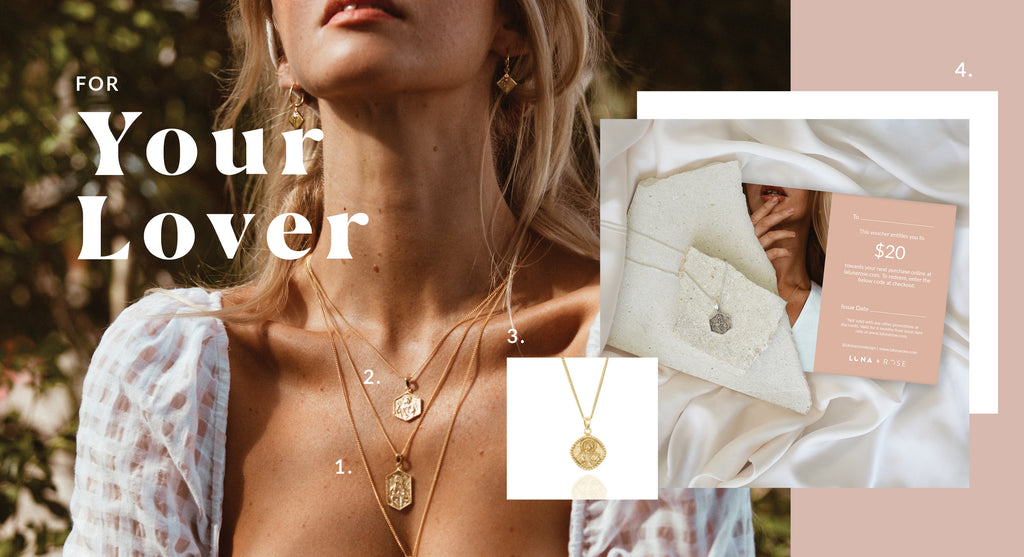 Sustainable Gift Ideas for your lover - Luna and Rose jewellery