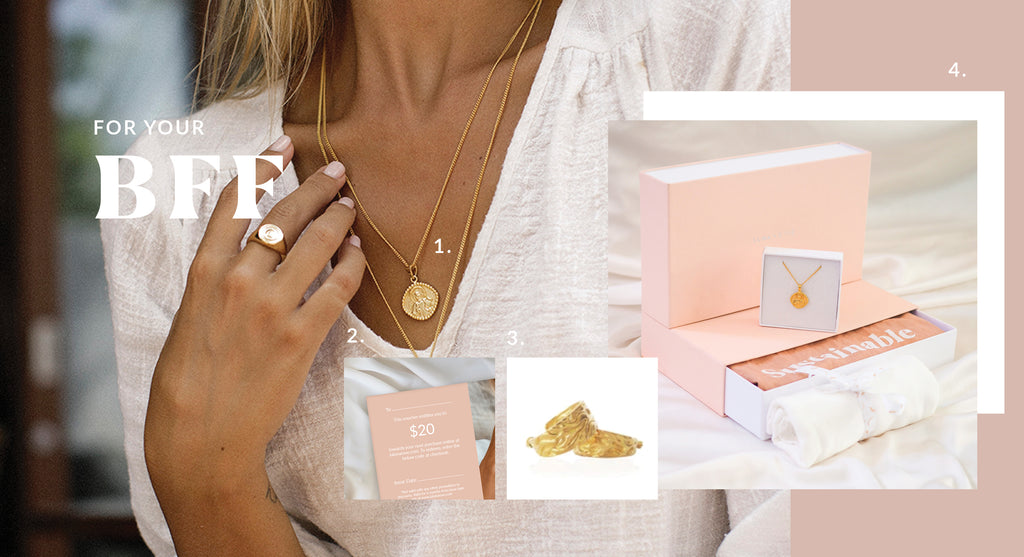 Sustainable Gift Ideas for your BFF - Luna and Rose jewellery