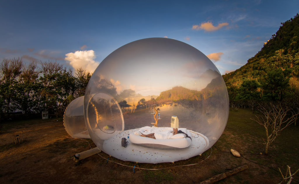 Bubble Hotel in Bali. Coolest place to stay in Ulluwatu on a Backpacker Budget
