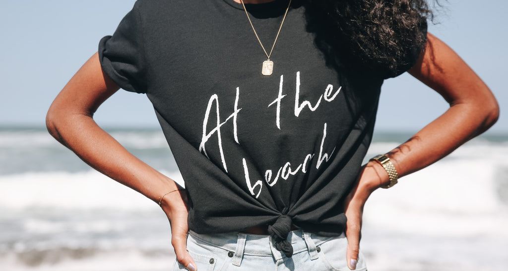 At The Beach - La Luna Rose Charity T Shirts