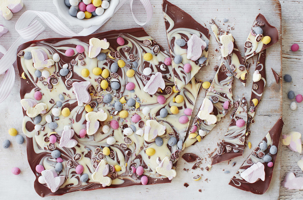 Delicious Easter Egg Dark Chocolate & White Chocolate Bark