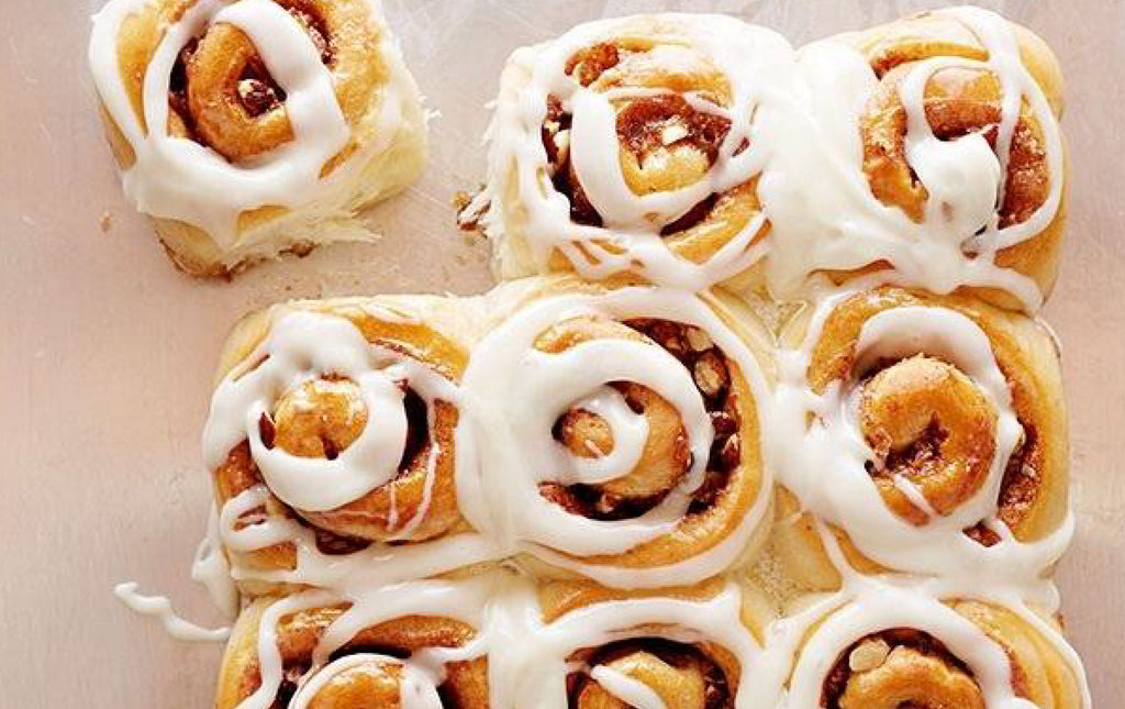 Easter Cinnamon Scrolls with Orange Zest Icing - Delicious Recipe