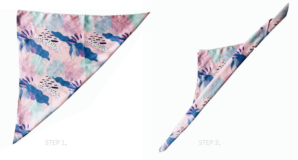 La Luna Rose Accessories - Ethically Printed Neck Scarf with Island Bali Vibes