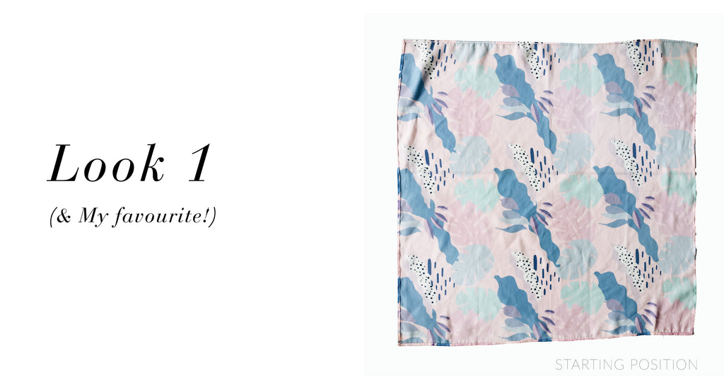 La Luna Rose Printed Neck Scarf with Tropical Vibes