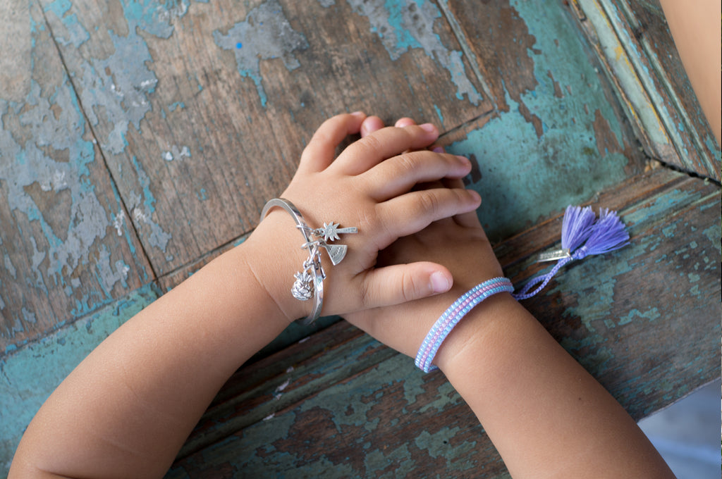 La Luna Rose Petites Jewellery for Little Girls - Beaded Bracelets and Charms