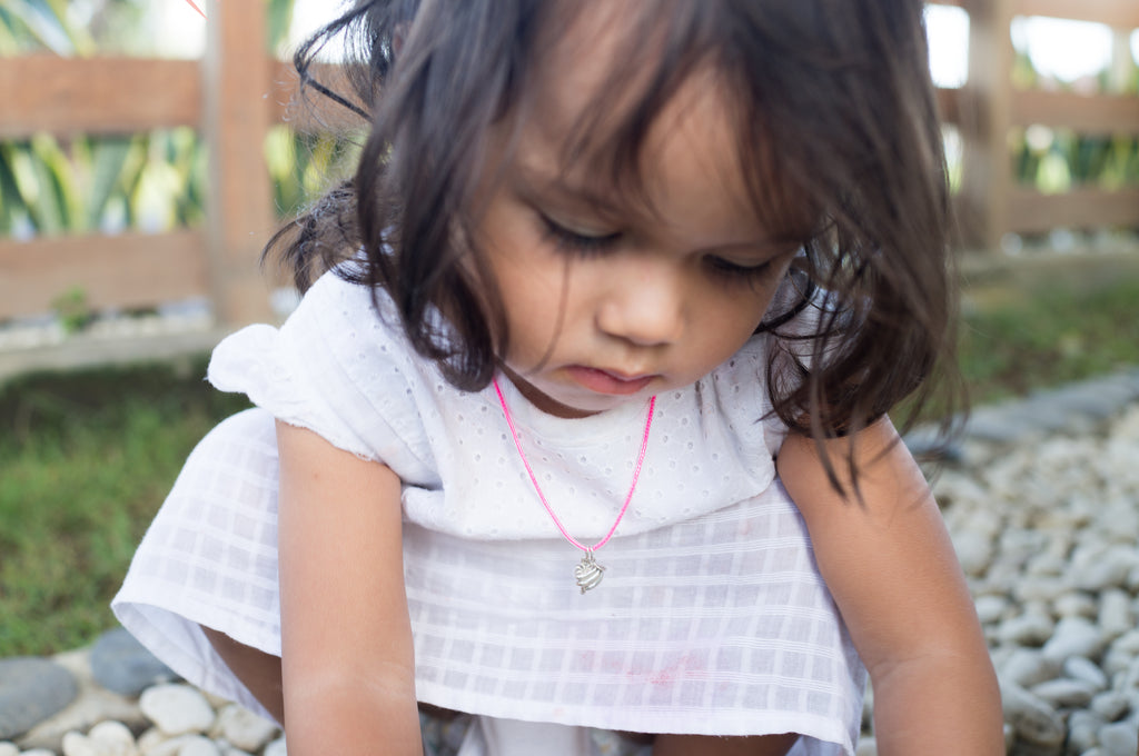 La Luna Rose Petites Jewellery for Little Girls - Beaded Bracelets and Silver Charms