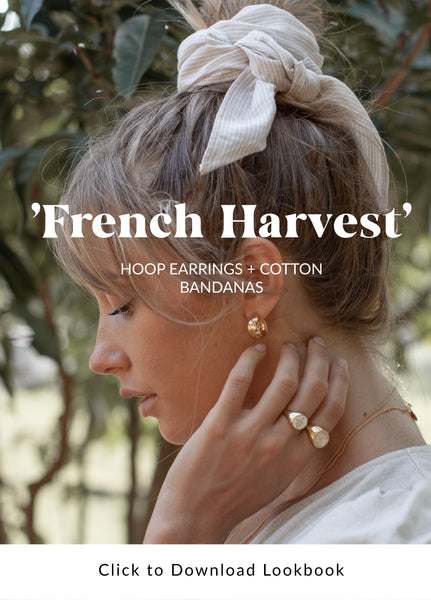 French Harvest Luna & Rose collection of Recycled Silver Earrings