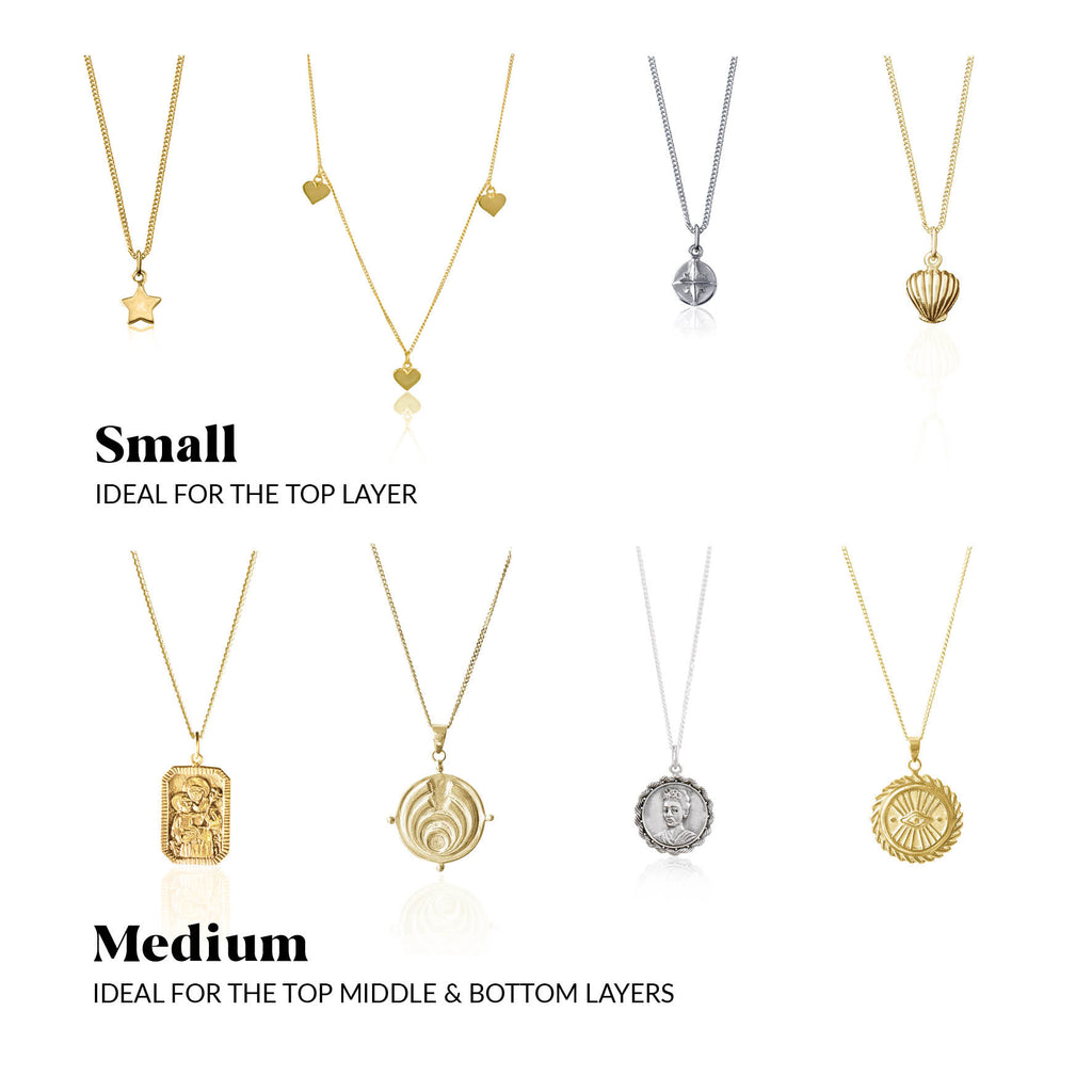 Saint and charming layered necklace