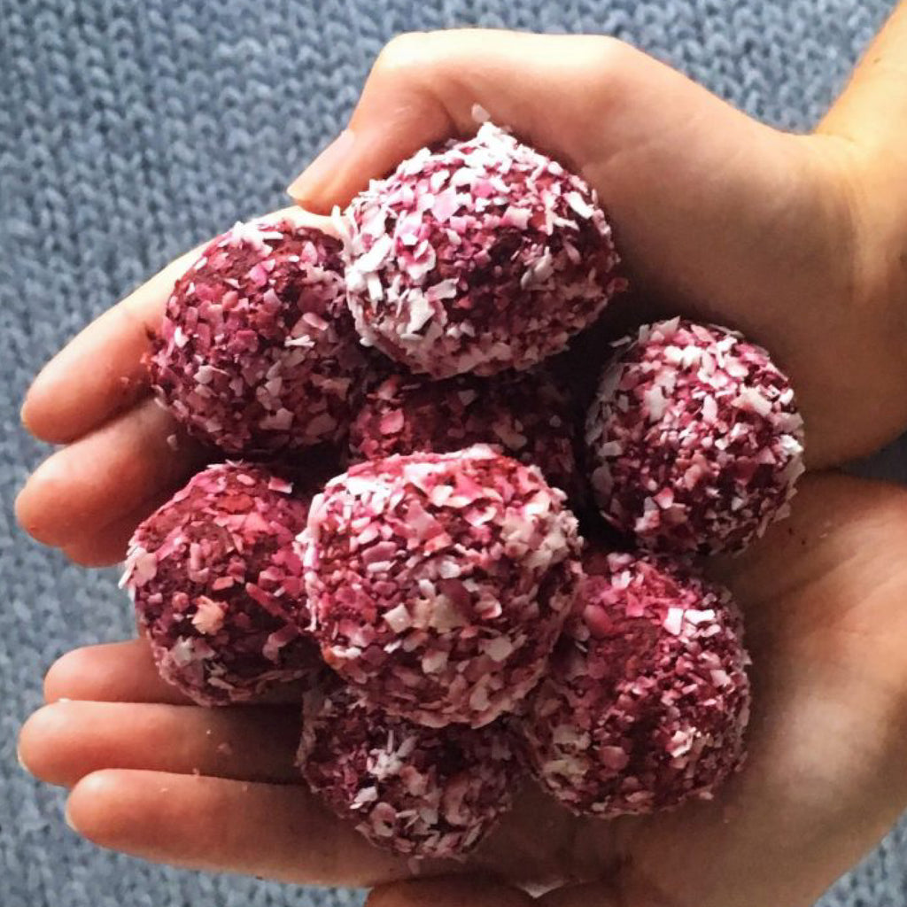 Healthy Beetroot Bliss Balls by Ashleigh Dickenson
