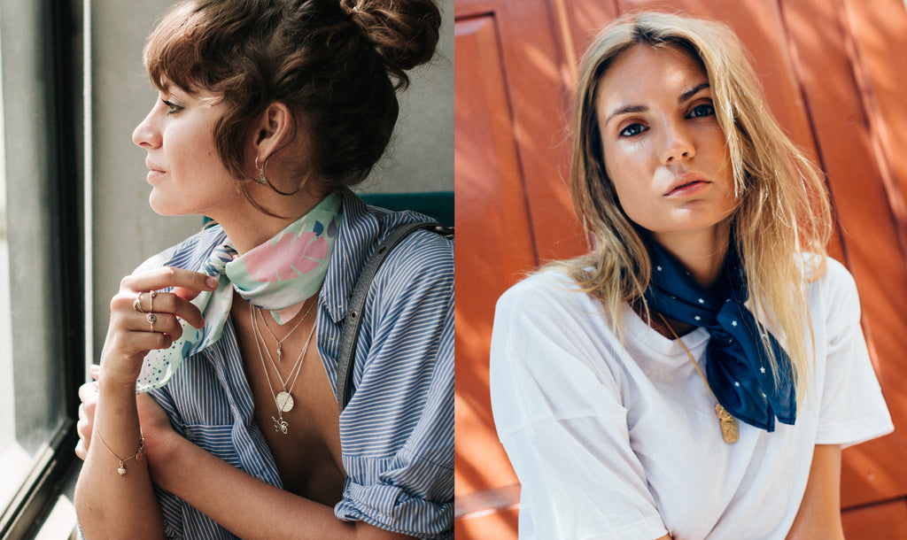 La Luna Rose Printed Neck scarves - How to fold your scarf like a Pro
