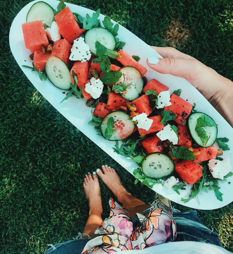 Ace at the Beach Fresh Summer Watermelon Salad by La Luna Rose
