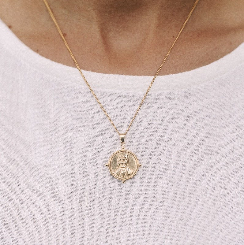 Sojourner Truth Necklace Pendant in Gold - Strength for Females
