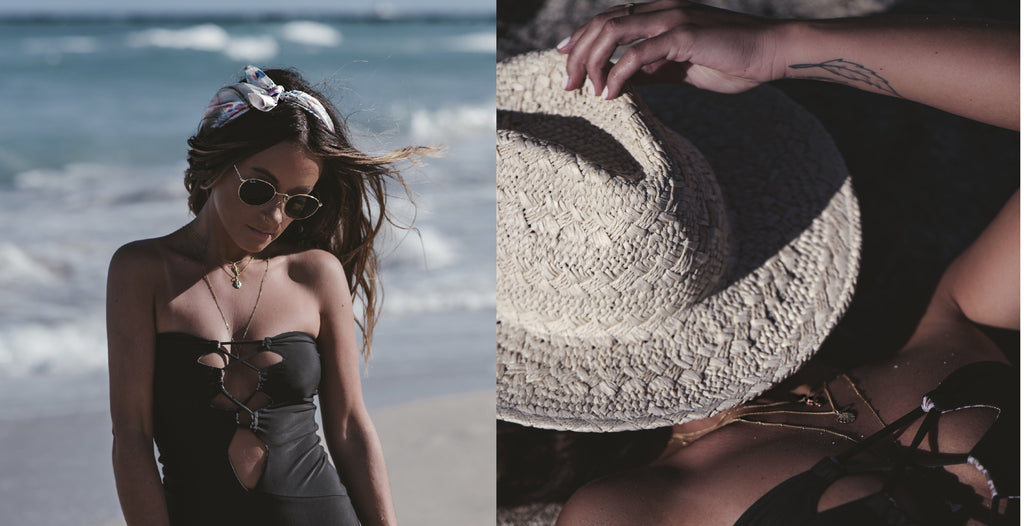 Miami Beach Babe Blogger Rachael wearing tropical Charms from La Luna Rose Jewellery