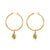 Hoop Earrings - Globetrotter (Gold)