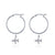 Hoop Earrings - Just Plane Adventurous (Silver)