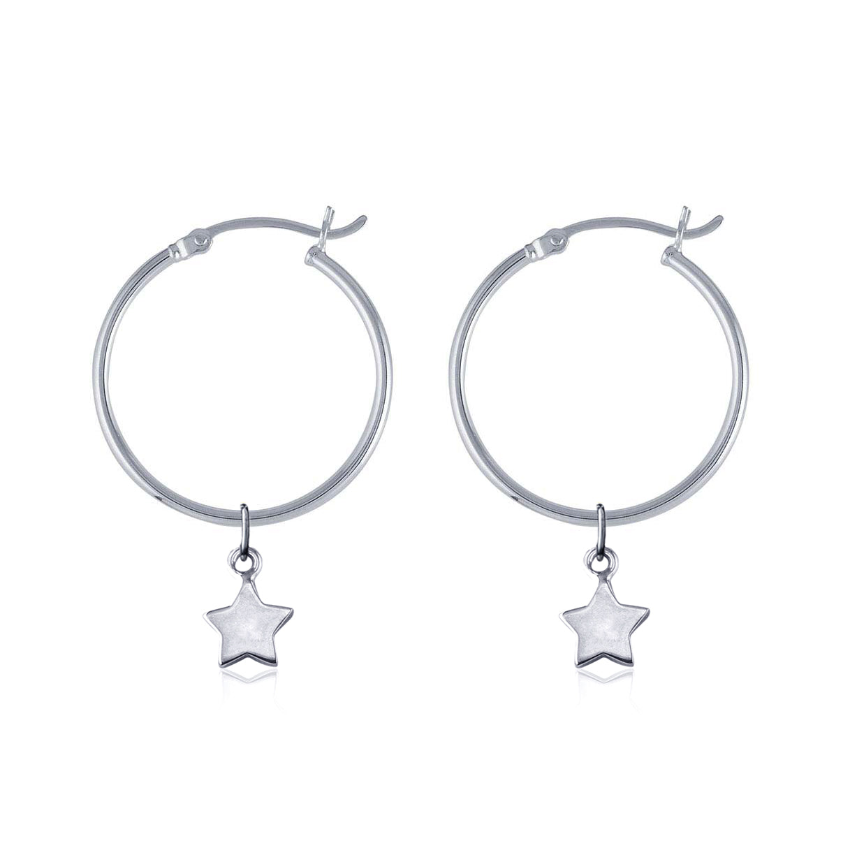 Hoop Earrings - Wish Upon a Star (Silver)