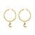 Hoop Earrings - To the Moon and Back (Gold)