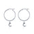 Hoop Earrings - To the Moon and Back (Silver)