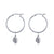 Hoop Earrings - Globetrotter (Silver)