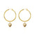 Hoop Earrings - Shell We Dance? (Gold)