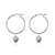 Hoop Earrings - Shell We Dance? (Silver)