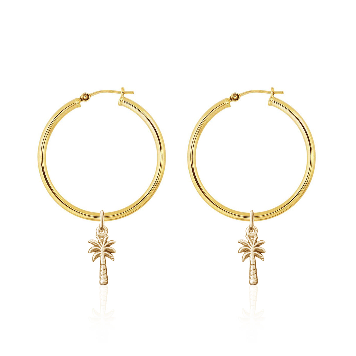 Hoop Earrings - Palm Springs (Gold)