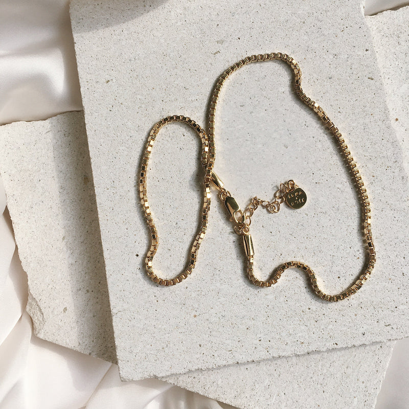 Bahama Box Chain Necklace - Gold