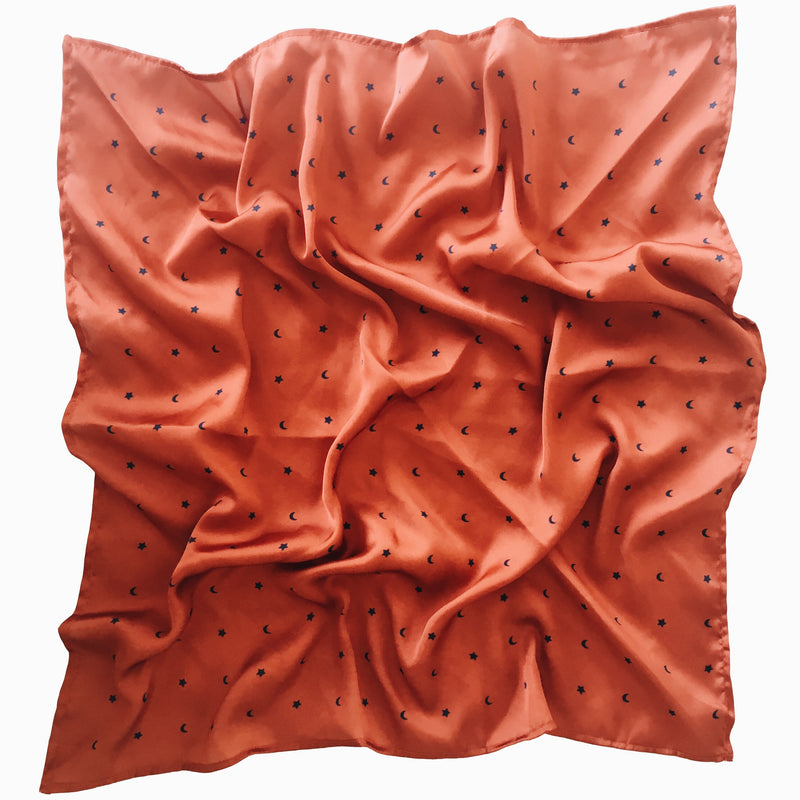 MORNING MIMOSA NECK SCARF - DESERT RED
