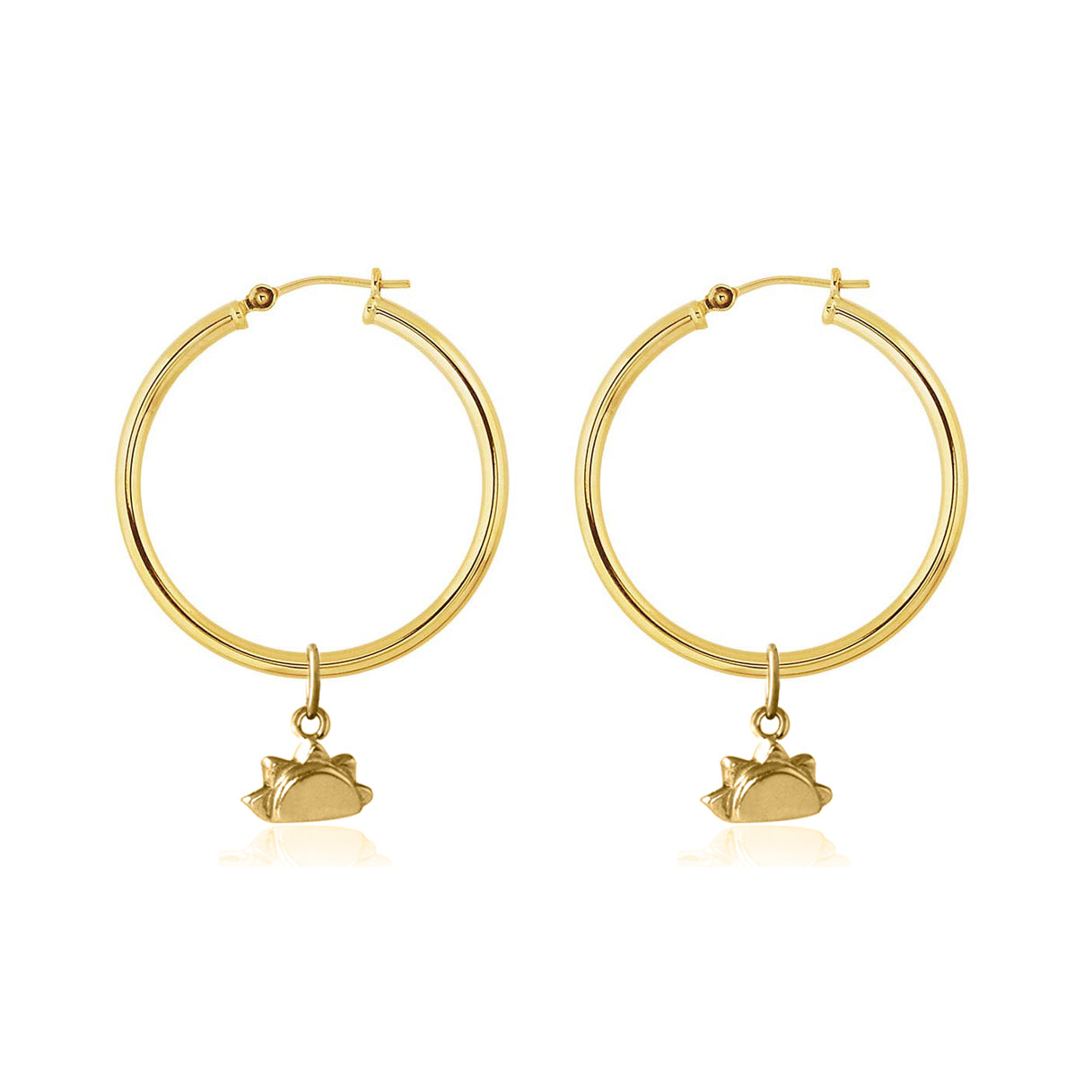 Hoop Earrings -  See you at Sunrise (Gold)