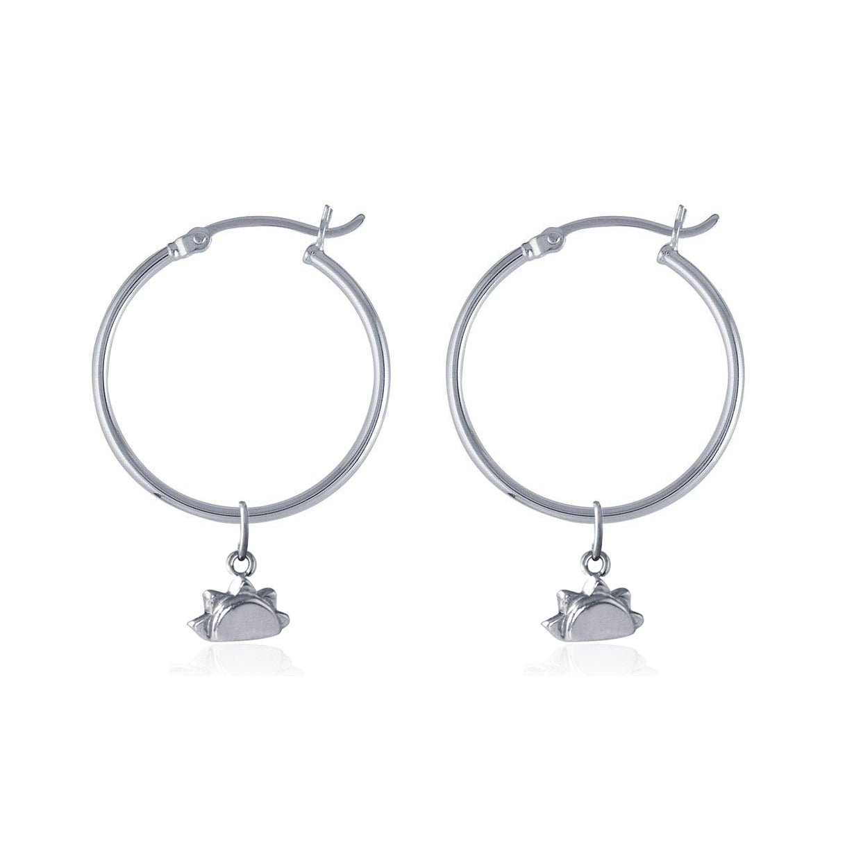 Hoop Earrings -  See you at Sunrise (Silver)
