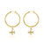 Hoop Earrings - Just Plane Adventurous (Gold)