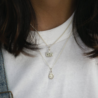 World Globe Charm Necklace - Bon Voyage Collection La Luna Rose