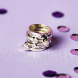 La Luna Rose Jewellery Beached Rock Ring Set