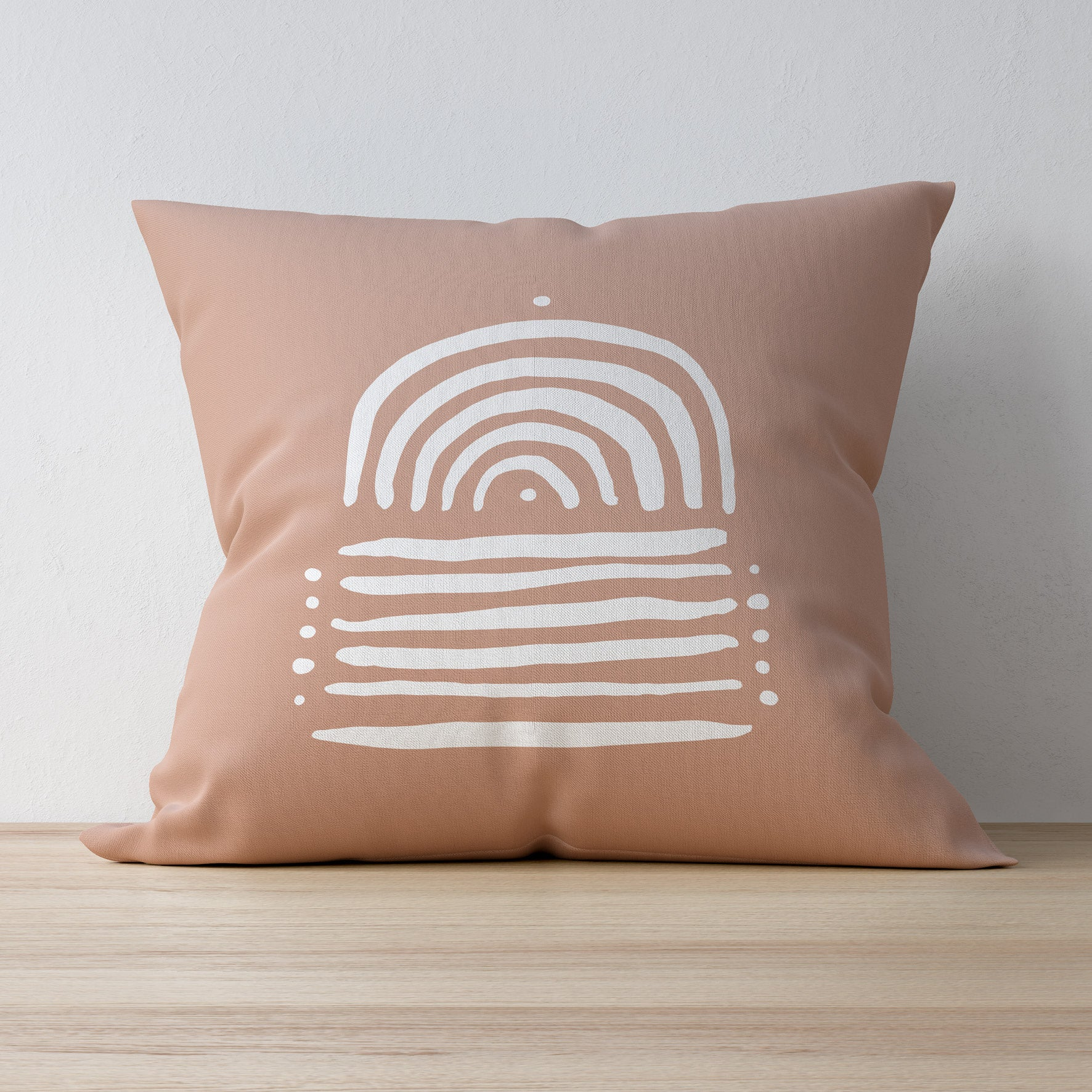 Becks Harrop - Printed White Sand Pillow Case