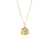 St Assisi - Patron Saint of Animals Necklace - Gold