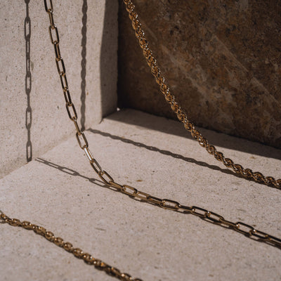 Luna & Rose Rope Chain necklace Recycled Sterling Silver
