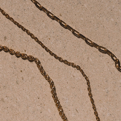 Luna & Rose Jewellery Como Cable Chain - Gold