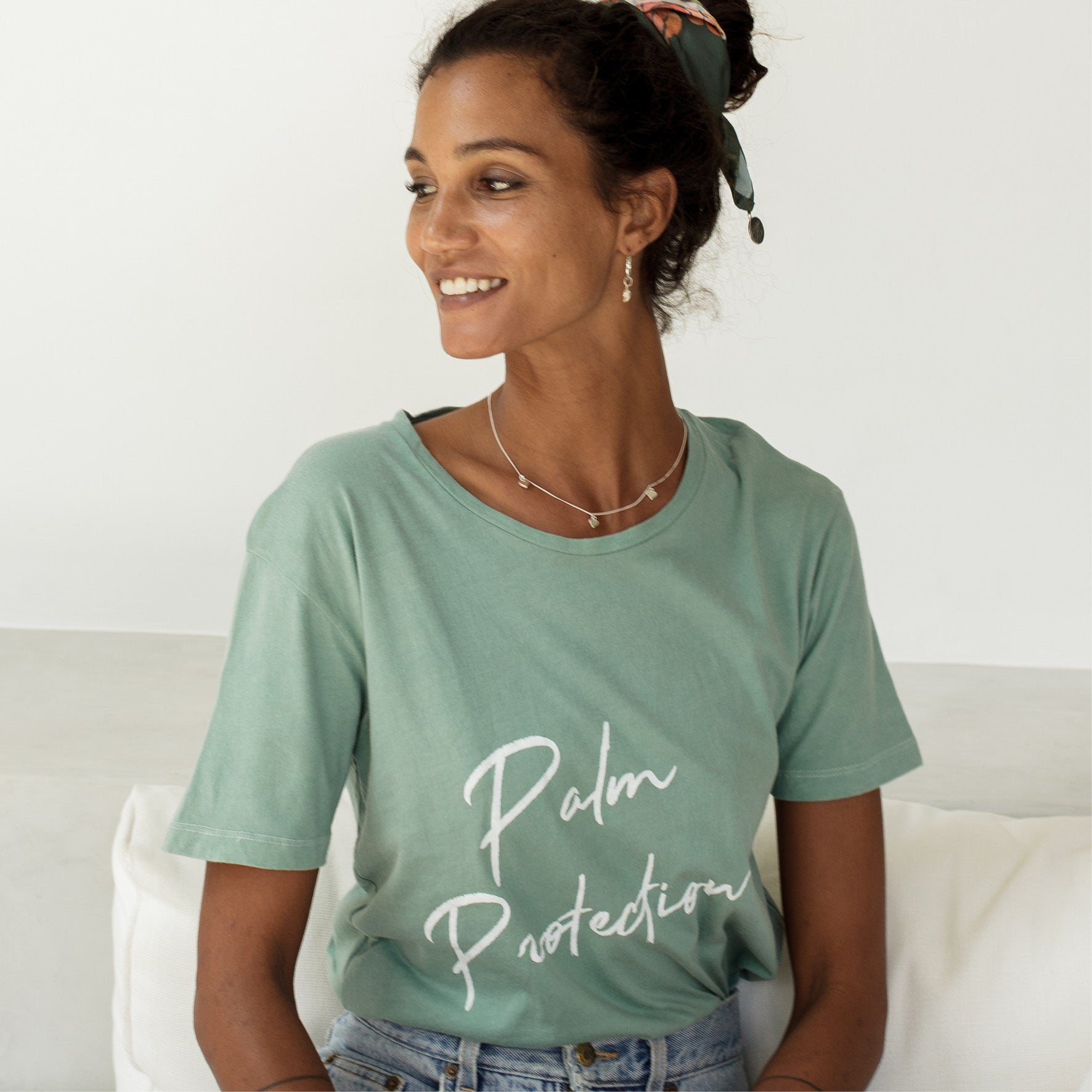 PALM PROTECTION - CHARITY T-SHIRT 'SMOKED SAGE'