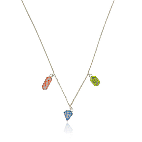 THE TRICYCLE TRICK CHARM NECKLACE (3 CHARMS)